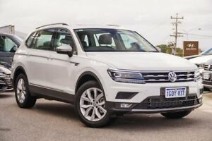 2018 Volkswagen Tiguan 5N MY18 110TSI Comfortline DSG 2WD Allspace White 6 Speed Myaree Melville Area Preview