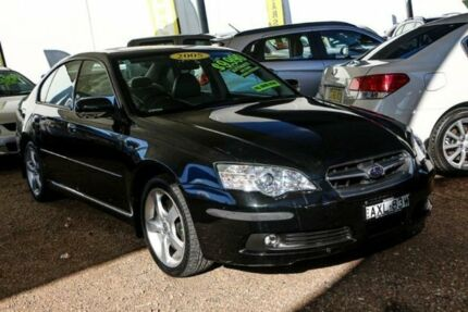 2006 Subaru Liberty B4 MY06 3.0R AWD Black 5 Speed Sports Automatic Sedan