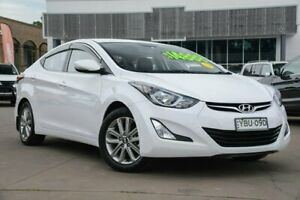 2014 Hyundai Elantra MD3 Trophy White 6 Speed Sports Automatic Sedan McGraths Hill Hawkesbury Area Preview