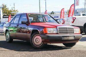 1992 Mercedes-Benz 190E W201 Burgandy/tan 4 Speed Automatic Sedan Moorooka Brisbane South West Preview