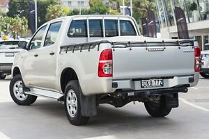2012 Toyota Hilux KUN26R MY12 SR Double Cab Silver 4 Speed Automatic Utility Brookvale Manly Area Preview