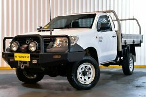 2012 Toyota Hilux KUN26R MY12 Workmate White 4 Speed Automatic Cab Chassis Hendra Brisbane North East Preview