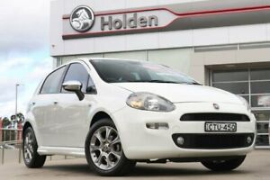 2013 Fiat Punto MY13 Lounge Dualogic White 5 Speed Sports Automatic Single Clutch Hatchback