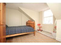 Double bedroom + study/single top floor flat in centre of Edinburgh