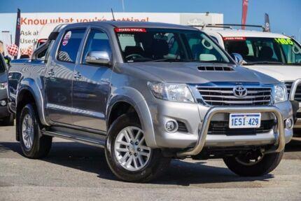 2015 Toyota Hilux KUN26R MY14 SR5 Double Cab Silver Sky 5 Speed Automatic Utility