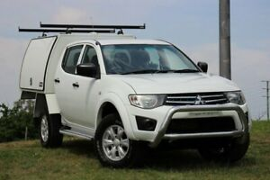 2013 Mitsubishi Triton MN MY13 GLX White 5 Speed Manual Cab Chassis Officer Cardinia Area Preview