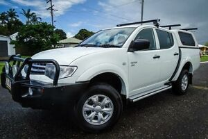2011 Mitsubishi Triton MN MY12 GLX (4x4) White 4 Speed Automatic 4x4 Double Cab Utility Bungalow Cairns City Preview
