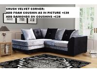 BYRON VELVET SOFAS**Brand New**EXPRESS DELIVERY**Made In UK**