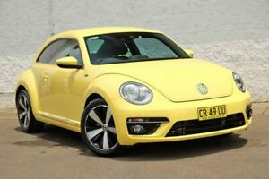 2016 Volkswagen Beetle 1L MY16 Coupe DSG Yellow 7 Speed Sports Automatic Dual Clutch Liftback
