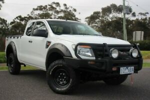 2015 Ford Ranger PX XL Super Cab White 6 Speed Manual Utility Officer Cardinia Area Preview