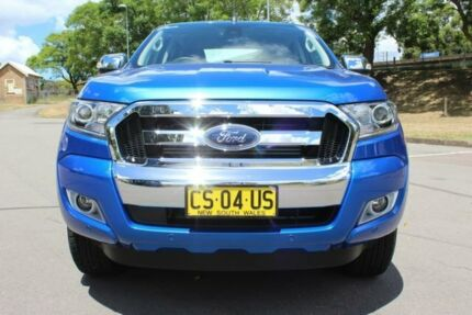 2017 Ford Ranger PX MkII 2018.00MY XLT Double Cab Blue 6 Speed Sports Automatic Utility East Maitland Maitland Area Preview