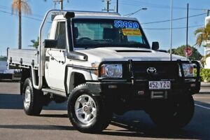 2012 Toyota Landcruiser VDJ79R MY13 GX White 5 Speed Manual Cab Chassis Gympie Gympie Area Preview