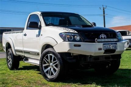 2007 Toyota Hilux KUN26R MY08 SR White 5 Speed Manual Cab Chassis Wangara Wanneroo Area Preview
