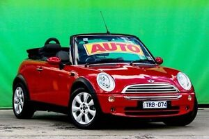 2005 Mini Cabrio R52 MY05 Cooper Red 6 Speed Constant Variable Convertible Ringwood East Maroondah Area Preview