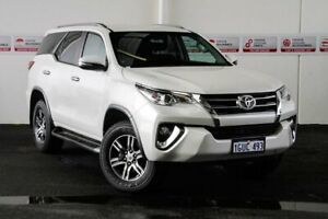 2015 Toyota Fortuner GUN156R GXL Crystal Pearl 6 Speed Automatic Wagon