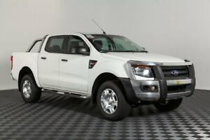 2014 Ford Ranger PX XL Double Cab White 6 Speed Sports Automatic Cab Chassis Acacia Ridge Brisbane South West Preview