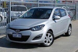 2014 Hyundai i20 PB MY12.5 Active Silver Metallic 4 Speed Automatic Hatchback Maddington Gosnells Area Preview
