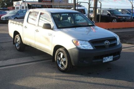 2007 Toyota Hilux TGN16R 07 Upgrade Workmate Silver 5 Speed Manual Dual Cab Pick-up West Footscray Maribyrnong Area Preview