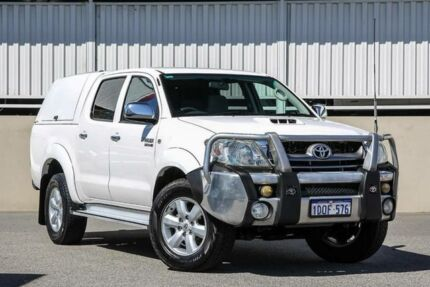 2011 Toyota Hilux KUN26R MY11 Upgrade SR5 (4x4) White 5 Speed Manual Dual Cab Pick-up Cannington Canning Area Preview