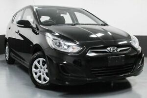 2012 Hyundai Accent RB Active Black 4 Speed Sports Automatic Hatchback Glendale Lake Macquarie Area Preview