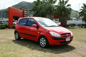 2006 Hyundai Getz TB MY06 Red 5 Speed Manual Hatchback Townsville Townsville City Preview