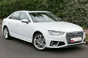 2018 Audi A4 B9 8W MY19 35 TFSI S Tronic White 7 Speed Sports Automatic Dual Clutch Sedan Parkside Unley Area Preview