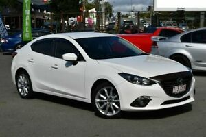 2014 Mazda 3 BM SP25 White 6 Speed Automatic Sedan Underwood Logan Area Preview