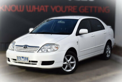 2004 Toyota Corolla ZZE122R 5Y Ascent Sport White 4 Speed Automatic Sedan Berwick Casey Area Preview