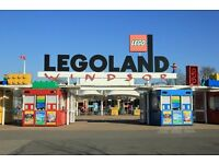 2 x Legoland tickets Monday 3rd October