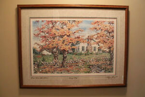 Laura Berry Limited Edition, Country Cottage, Personally signed
