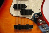 Waterstone 5-string bass guitar with EMG active pickups