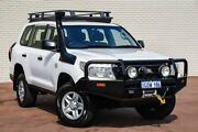2013 Toyota Landcruiser VDJ200R MY12 GX White 6 Speed Sports Automatic Wagon Bayswater Bayswater Area Preview