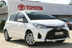 2016 Toyota Yaris NCP130R Ascent Glacier White 4 Speed Automatic Hatchback Wyong Wyong Area Preview