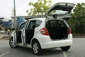 2010 Honda Jazz GE MY10 GLi White 5 Speed Manual Hatchback Bungalow Cairns City Preview