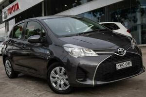 2016 Toyota Yaris NCP130R Ascent Grey 4 Speed Automatic Hatchback Castle Hill The Hills District Preview