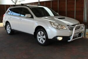2010 Subaru Outback 4GEN 2.0D White Manual Glebe Hobart City Preview