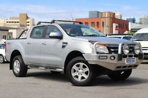 2014 Ford Ranger PX XLT Double Cab Silver 6 Speed Manual Utility Northbridge Perth City Area Preview