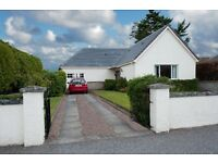 Detached bungalow in West End of Nairn for rent.