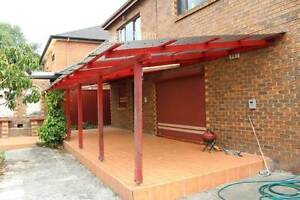 External Alfresco - Wooden and Polycarbonate roof covering Wentworthville Parramatta Area Preview