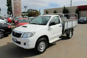 2014 Toyota Hilux KUN26R MY14 SR (4x4) White 5 Speed Automatic Cab Chassis Werribee Wyndham Area Preview