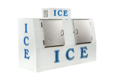 New Ice Merchandiser Ice Freezer 75 Cu Ft Slate Front