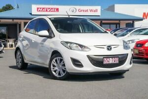 2012 Mazda 2 DE10Y2 MY12 Neo White 4 Speed Automatic Hatchback Tweed Heads Tweed Heads Area Preview