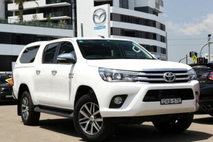 2015 Toyota Hilux GUN126R SR5 Double Cab White 6 Speed Manual Utility Liverpool Liverpool Area Preview