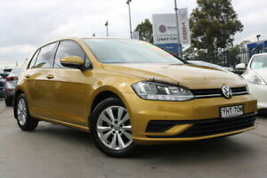 2017 Volkswagen Golf 7.5 MY17 110TSI DSG Trendline Yellow 7 Speed Sports Automatic Dual Clutch Penrith Penrith Area Preview