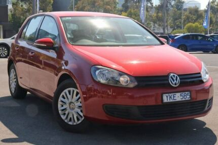 2011 Volkswagen Golf VI MY11 77TSI DSG Red 7 Speed Sports Automatic Dual Clutch Hatchback Docklands Melbourne City Preview