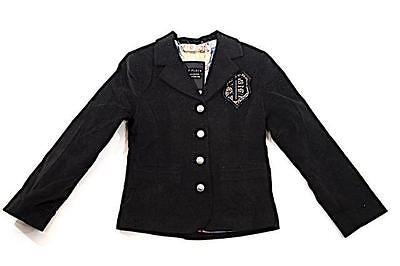 PHILIPP PLEIN Kids Black Velvet Blazer w/ Swarovski Appliques &