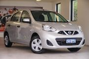 2016 Nissan Micra K13 Series 4 MY15 ST Silver 4 Speed Automatic Hatchback Willagee Melville Area Preview
