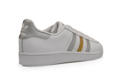 Détails sur Hommes Adidas Superstar BB4 882 Blanc or Argent Baskets