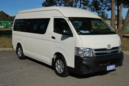 2013 Toyota Hiace KDH223R MY12 Commuter High Roof Super LWB White 4 Speed Automatic Bus Kenwick Gosnells Area Preview