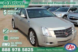 2009 Cadillac CTS w/1SB - Wholesale Unit, No PST! w/AWD